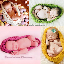 Newborn Baby Blanket Swaddle Sleeping Bag Handmade Wool Knitted Sleeping Bag Suit Baby Photography Photo Assistant