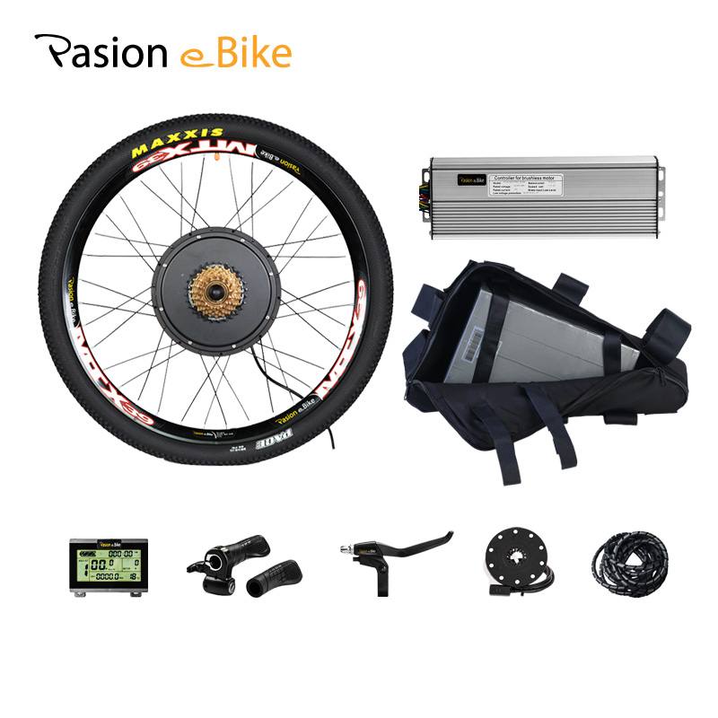 48V 1500W Electric Bike Wheel Motor With Battery 52V 20.3ah Electric Bike Conversion Kit With Battery Electric Bicycle Motor Kit