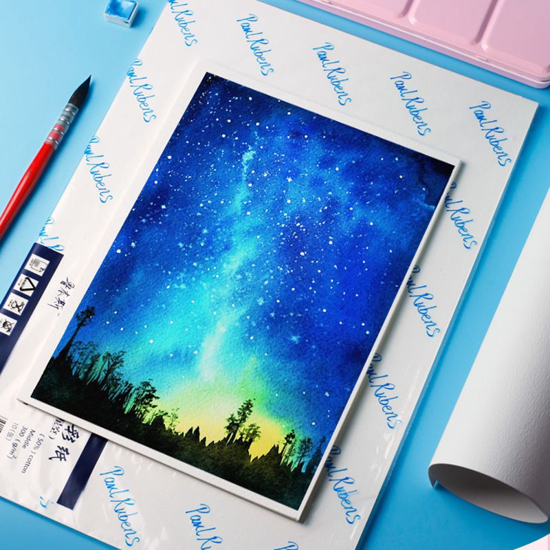 Rubens Watercolor Paper 50/% Cotton 300g//m2 10 Sheets Hand Painted Drawing