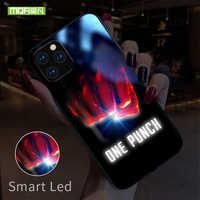 Mofi Für iPhone 11 Pro Fall Smart Led Glow Fall Für iPhone 11 Max Abdeckung Funda Fest Silikon TPU Patterned glas Charakter Capa
