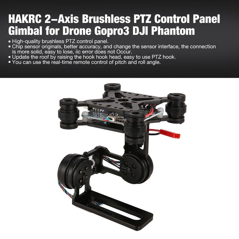 cheapest HAKRC 2-Axis CNC Metal Brushless BGC2 2 PTZ Control Panel Gimbal Stabilizer for RC Drone Camera Gopro3 DJI Phantom