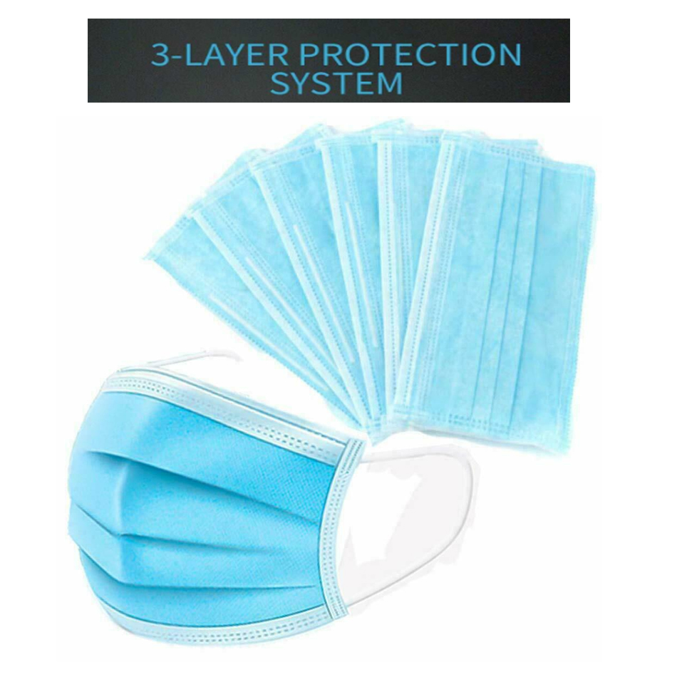 Купить с кэшбэком 50Pcs/200pcs Disposable Nonwove 3 Layer Ply Filter mouth Face filter safe Breathable dustproof Protective