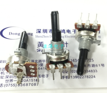 2PCS/LOT KIE Taiwan 09 type precision potentiometer, double shaft and double band switch, B10K shaft length, 25MM double adjusta image