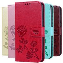 Rose Flower Leather Case For Samsung Galaxy S8 S9 Plus S7 S6 Edge S5 S3 S4 J3 J5 J7 A3 A5 J1 2016 2017 J2 Grand Prime Flip Cover(China)