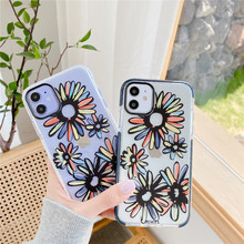 Daisy phone case for iphone 11 pro max X Xs max XR 7 8 plus soft tpu silicone clear flower cases cover 8plus fall-anti case plating tpu phone case for iphone 11 pro max 6 7 8plus xs max xr soft silicone upscale phone cases mobile phone accessories