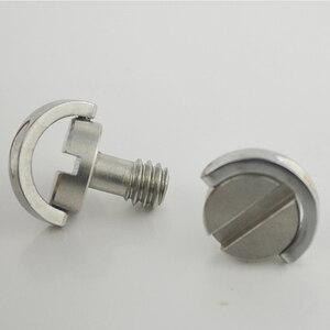 """Image 4 - Aço inoxidável cativo 1/4 """"c anel parafuso para câmera tripé placa de liberação rápida"""