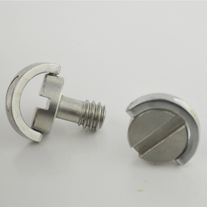 """Image 4 - Stainless Steel Captive 1/4"""" C ring Screw Bolt for Camera Tripod Quick Release Plate"""