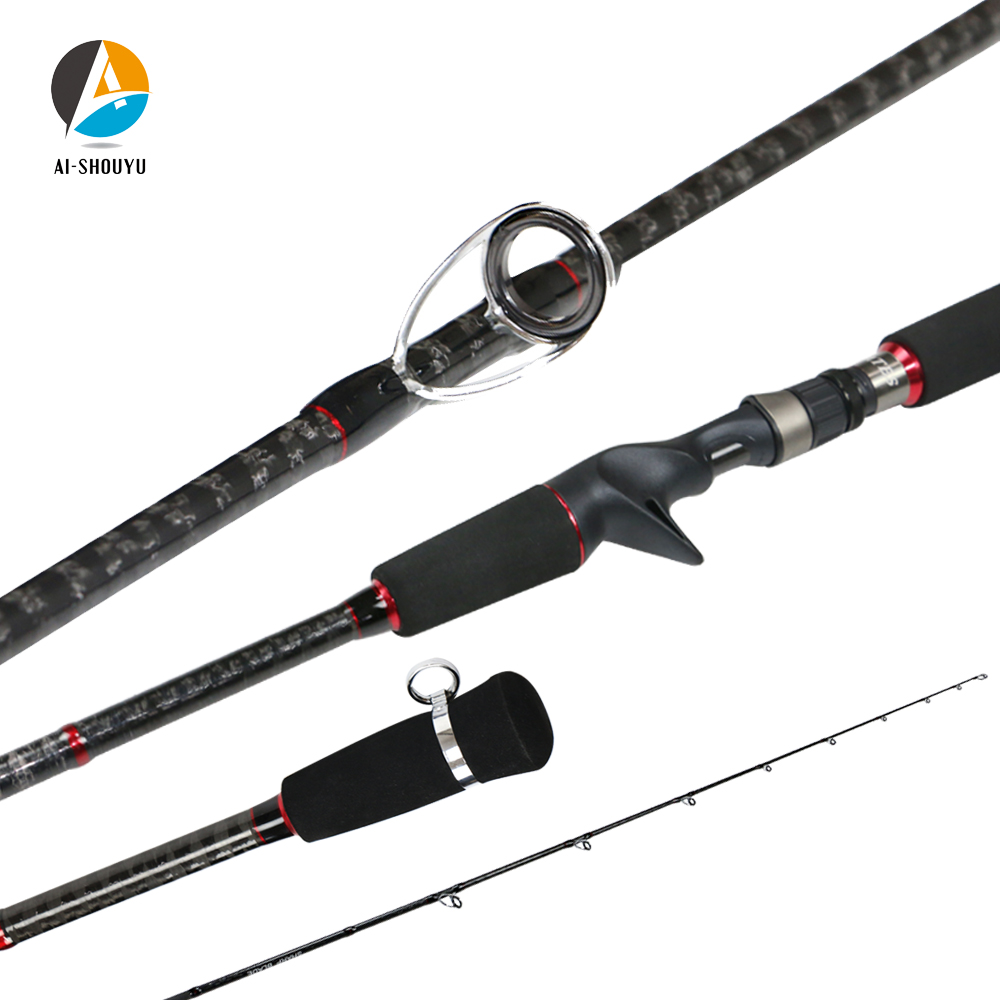 AI-SHOUYU Slow Jigging Fishing Rod 1.85m 1.95m Sensitive Grip Ocean Rod MF Action 22kg Carbon Fishing Rod Lure Weight 120-300g