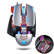 цены на Pro Gaming Mouse Mause 8 Button DPI Adjustable Computer Optical LED Game Mice USB Wired Games Cable Mouse for Professional Gamer  в интернет-магазинах