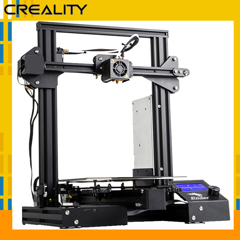 Schwarz CREALITY 3D Drucker Ender-3/Ender-3 Pro DIY KIT drucker UpgradCmagnet Bauen Platte Lebenslauf Stromausfall Druck/aus RU