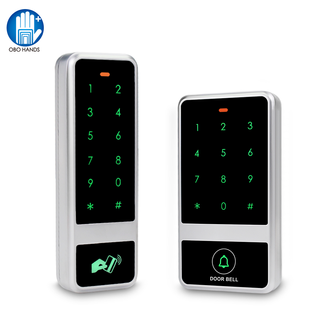 RFID Access Control Keypad Touch Metal Board Standalone 125KHz Access Controller Waterproof Card Reader with 10pcs Keyfbos Card