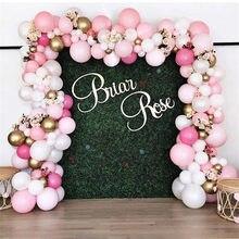 Guirlande en arc de ballons rose rétro, Kit de 162 pièces, Globos chromés or, décorations pour fête prénatale, saint-valentin, mariage, anniversaire d'enfant