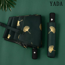 Yada Fashion Ginkgo Biloba Automatische Paraplu Winddicht Vouwen Regenachtige Bladeren Paraplu Voor Vrouwen Parasol Uv Blad Paraguas YD213