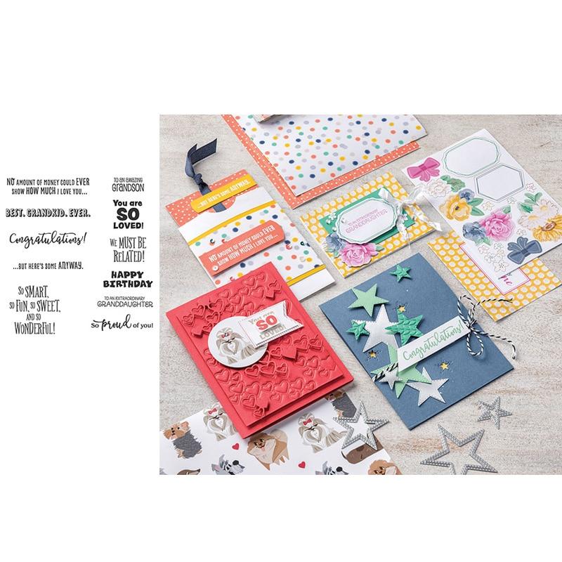 ЙК снимите штамп поздравляем писем фразы силиконовые уплотнения Ди скрапбукинга лист модель карты сделать декор ремесло шаблон