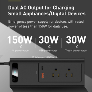 Baseus Auto Power Inverter DC12V Zu AC 110V Tragbare Auto Inverter Digital Schnelle Lade Power Adapter Für Auto Ladegerät konverter
