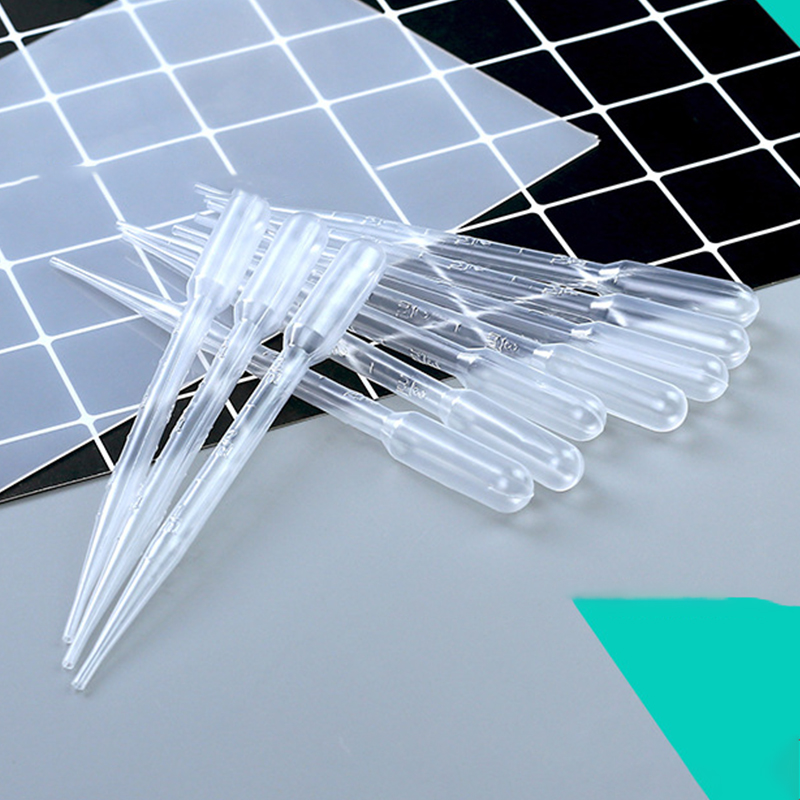 10pcs Transparent Plastic Droppers DIY Crystal Epoxy Pipettes Practical Handcraft Soap Making Tool For Lab Supplies 3ml