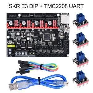 Image 2 - BIGTREETECH SKR mini E3 V 1,2 32Bit Control Board Mit TMC2209 UART Fahrer 3D Drucker Teile skr v 1,3 E3 dip Für Creality Ender 3