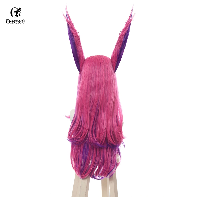 Ear Cosplay League of Legends Hairpieces Game LOL Xayah The Rebel Red Long Wig