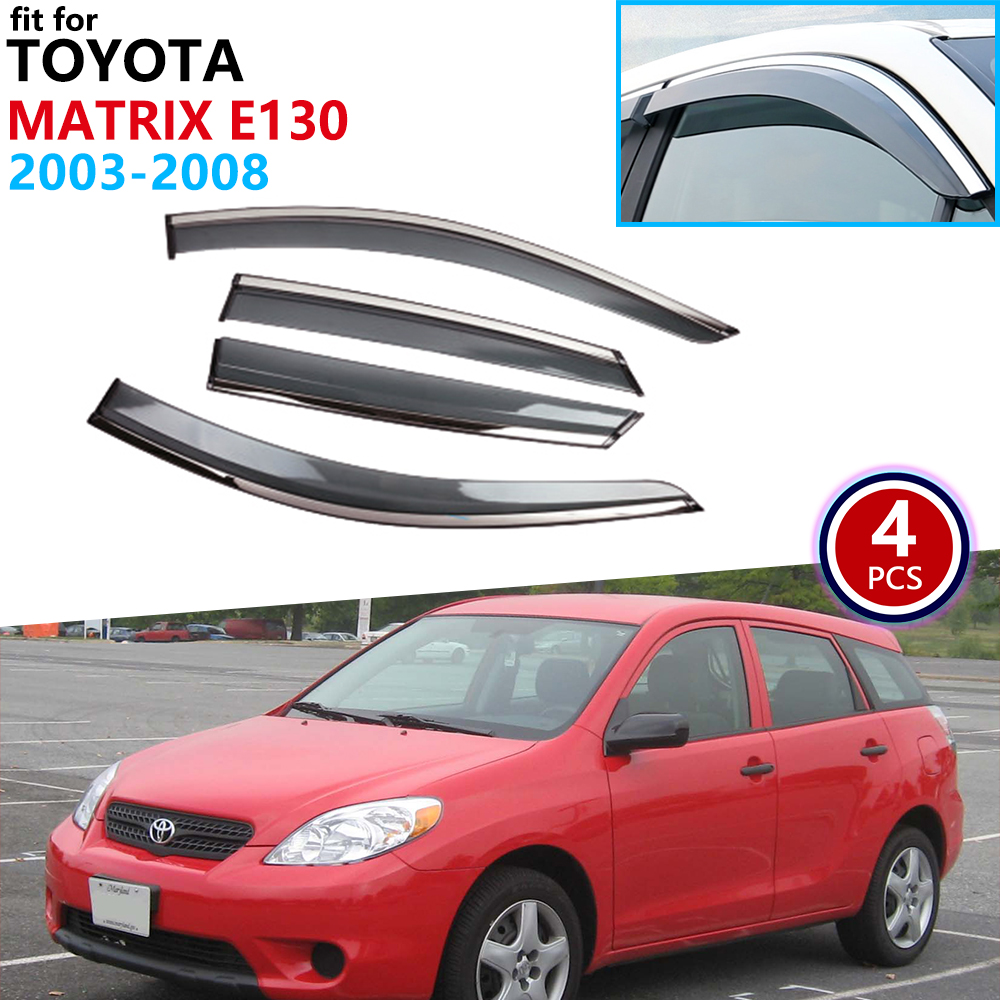 For Toyota Matrix E130 2003 2004 2005 2006 2007 2008 Window Visor Vent Awnings Rain Guard Deflector Shelters Cover Accessories