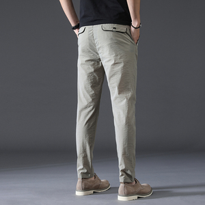 Image 3 - summer high quality Men Pants Brand Clothing Classic Casual Men Trousers Straight Gray Black Khaki thin Breathable Pants male