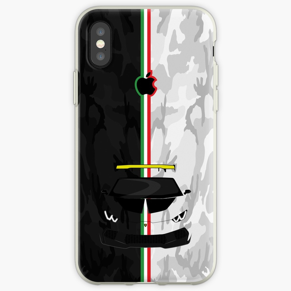 Lamborghini Huracan Camo Transparent Fall Für Apple <font><b>iPhone</b></font> X XS MAX XR fall für <font><b>iPhone</b></font> 7 8 Plus 6 6s <font><b>5</b></font> 5s 7Plus 8 Plus Coque image