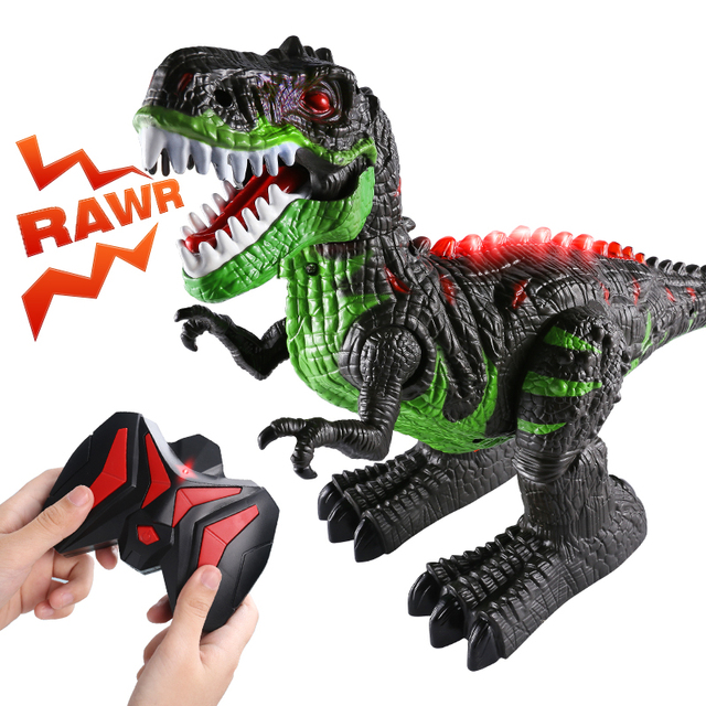 Remote Control Dinosaurs Electric Robot Sound Light Toy Excavation Jurassic Animals T Rex Educational Toys for Children Boys 2