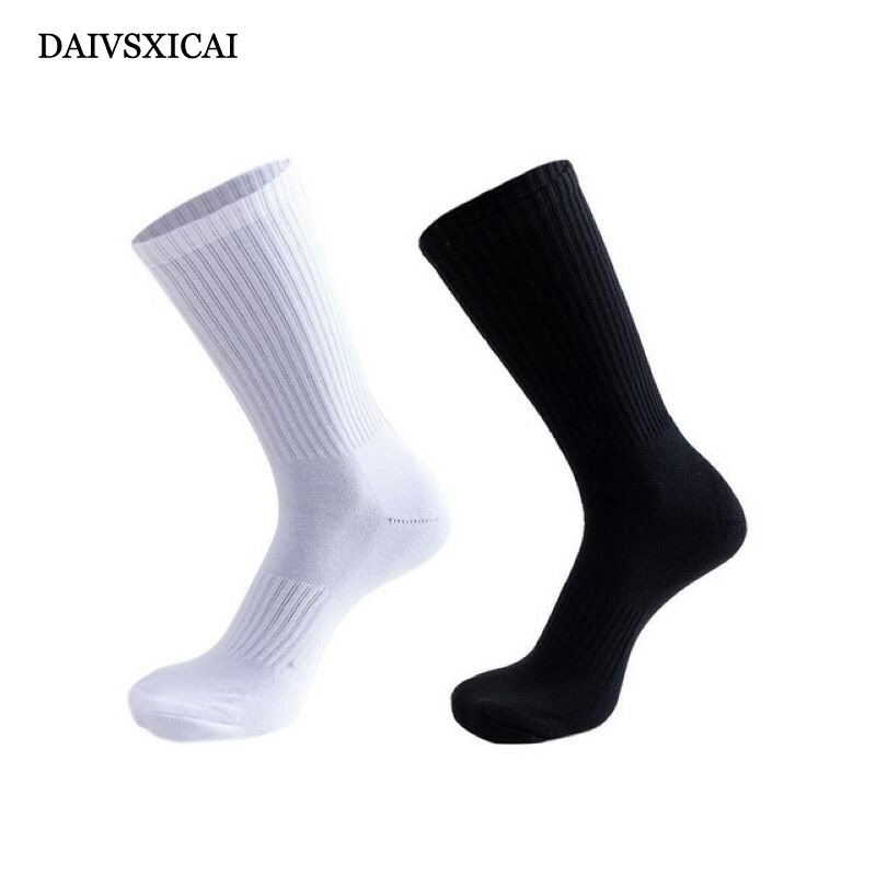 1Pairs/lot=2pieces Autumn Winter Black White Socks Male Terry Thick Long Tube Socks Sports Man Basketball Men Business Socks