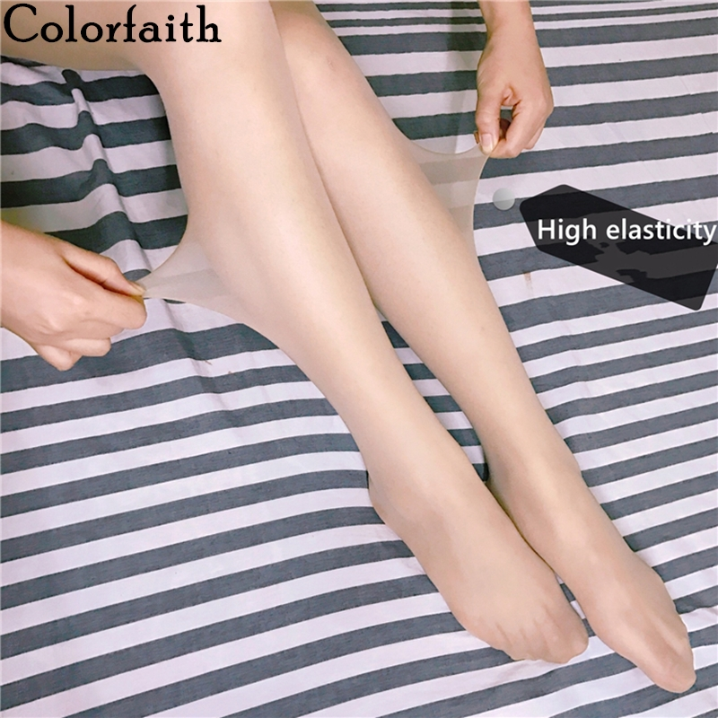 Colorfaith 2020 New Spring  Woman Leggings Elasticity Pantyhose Push Up Casual Thrilling Sexy Fitness Jeggings Le803