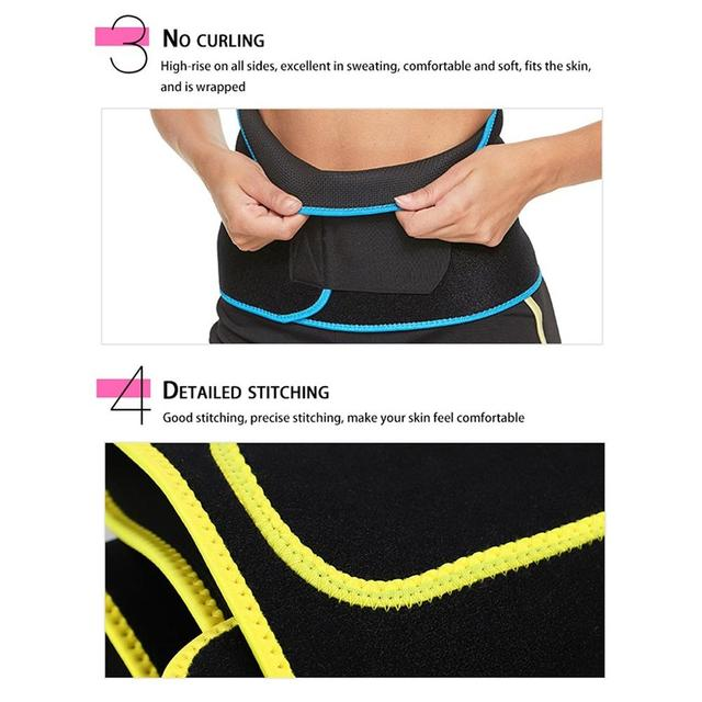 Unisex Waist Trimmer Trainer Fitness Workout Elastic Shaping Sweat Sauna Abdomen Sports Fitness Belt with Pocket for Cell Phone 1