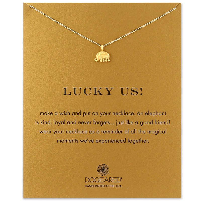 Moda w stylu etnicznym słoń damski naszyjnik z wisiorkiem prosty złoty łańcuszek Choker naszyjnik Dainty obojczyka naszyjniki Choker biżuteria