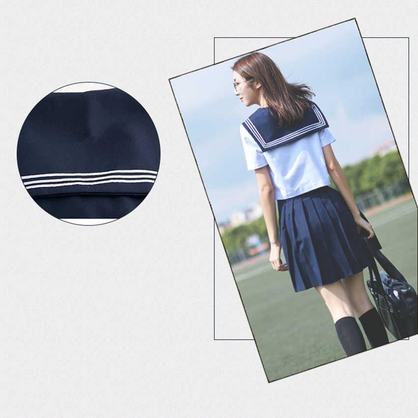 Saia do anime marinheiro navy, uniforme escolar japonês, estilo coreano, menina kawaii, camisa branca para cosplay, roupas japonesas