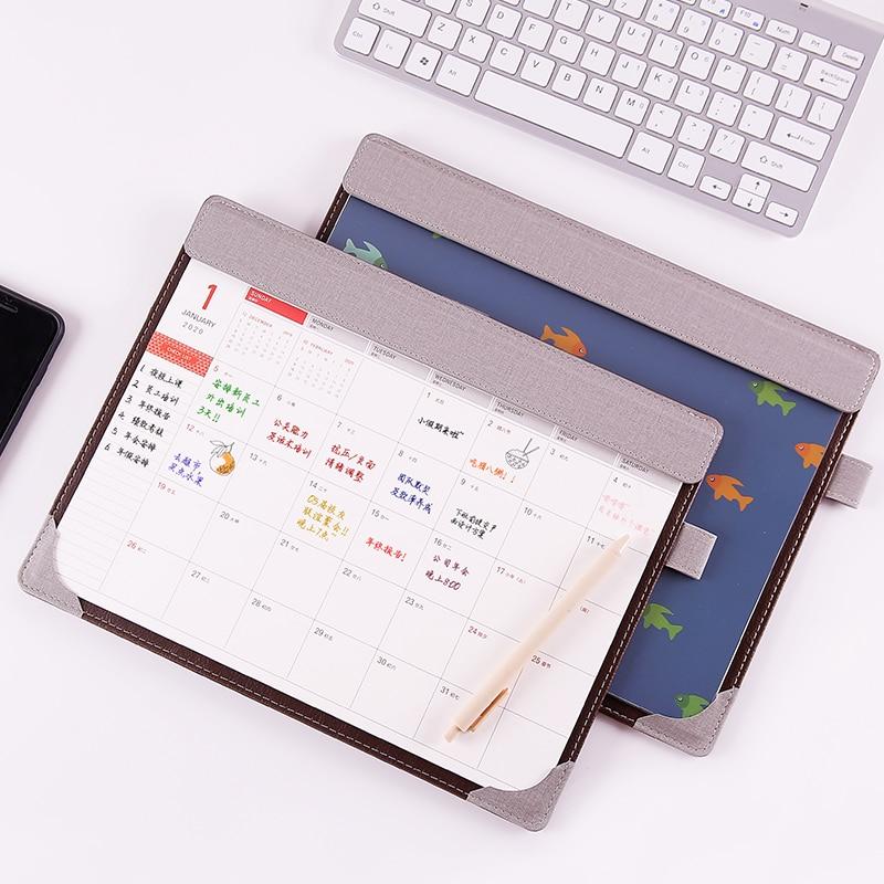 2020 Sharkbang Creative PU Multi-functional Desktop Organizer File Folder 365 Daily Planner Work Notepad Mouse Pad Stationery