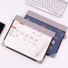 Sharkbang 2021,1-2021,12 creativo PU Multi-funcional de 365 días de escritorio CALENDARIO DE años del programa de archivo y carpeta Mouse Pad papelería