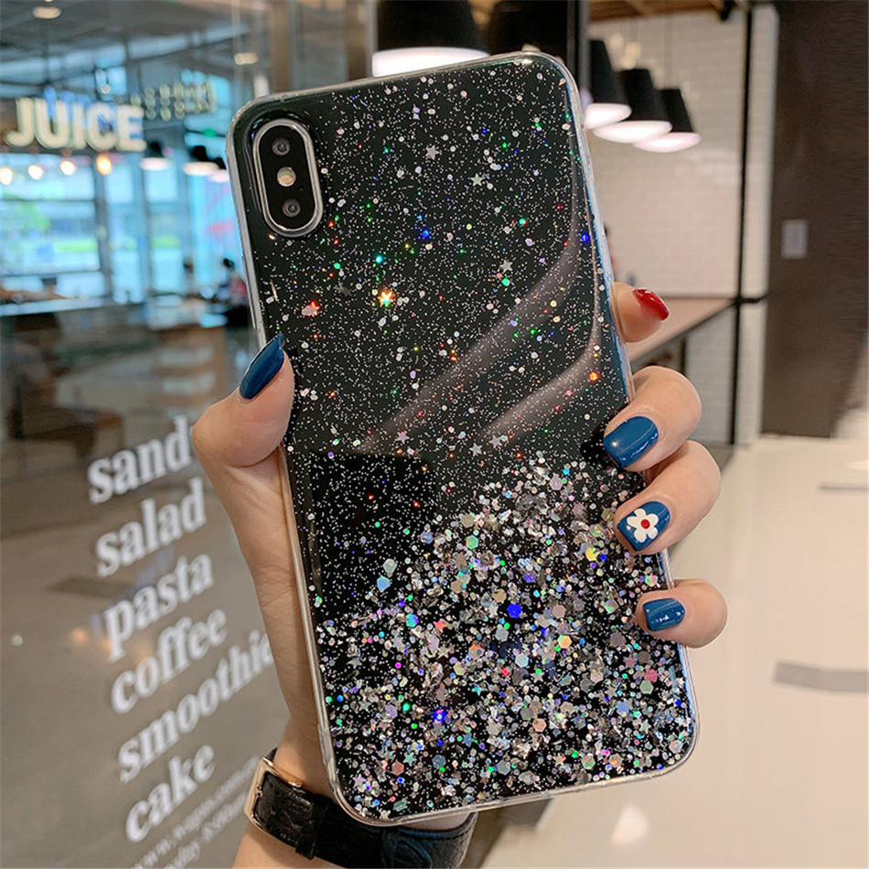 Hfc92ea15823344a2a7b3a6f357afaddbc - iPWSOO Glitter Foil Powder Case For iPhone 11 Pro XS Max XR X Bling Phone Case For iPhone 11 8 7 6 6s Plus Soft TPU Clear Cover