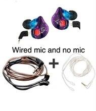 KZ לZST היברידי אוזניות Bluetooth + Wired 2 כבלי אבזור + דינמי כונן HI FI בס אוזניות ספורט מוסיקה חכם טלפונים