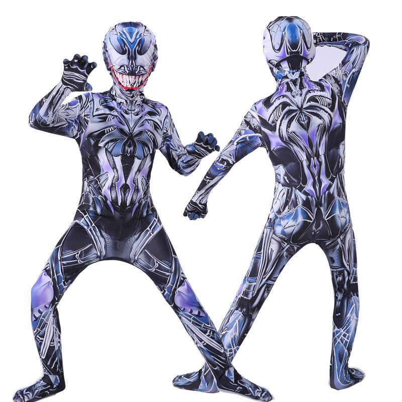 Baru Racun Kostum Anak Baju Jumpsuit Anak Laki-laki Symbiote Spide Kostum Superhero Cosplay Kostum Halloween untuk Dewasa
