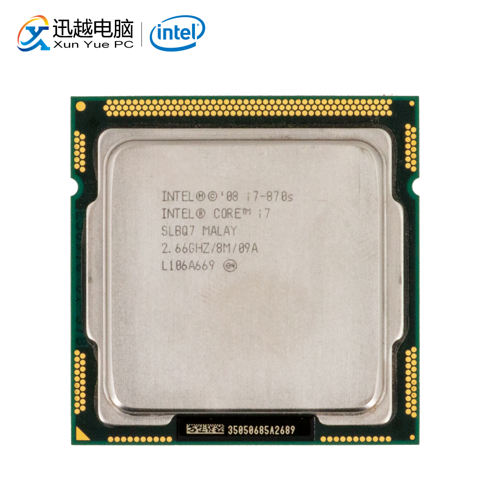 Intel Core i7 870S Desktop Processor i7-870S Quad-Core 2.66GHz 8MB L3 Cache LGA 1156 Used CPU
