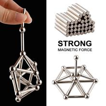 Metal Magnets Cube Magic Building Blocks Children Educational Puzzle Toys Innovative Bucky Magnetic Sticks Steel Balls Set
