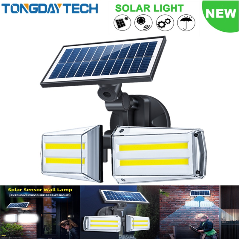 TONGDAYTECH New Solar Light Outdoor Solar Lamp Motion Sensor Solar Wall Lamp IP65 Waterproof Street Lamp For Garden Decoration