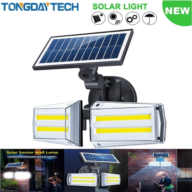 TONGDAYTECH New Solar Light Outdoor Solar Lamp Motion Sensor Solar Wall Lamp IP65 Waterproof Street Lamp For Garden Decoration