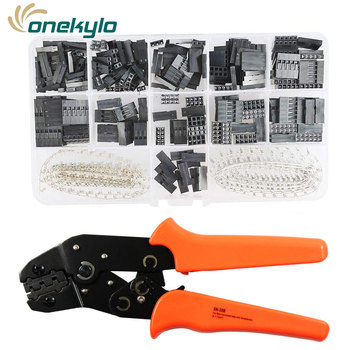 SN-28B JST Dupont crimp tool 0.25-1mm²/23-17AWG 620pcs 2.54mm dupont cable jumper wire Pin Header Housing terminals clamp kit
