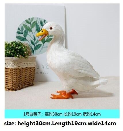 Имитация смолы перо фигурка утки обучающая модель моделирования, свадебные подарки на день рождения украшения дома сада ремесла подарки - Цвет: a large