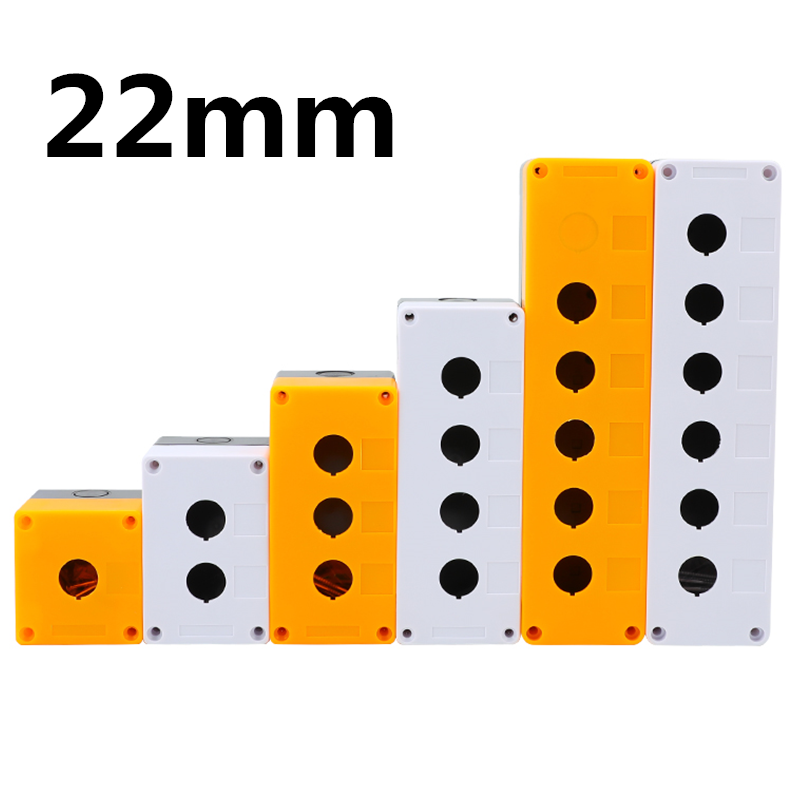 22mm Installation Aperture Waterproof Dust-proof XB2 LA38 LAY37 Button Switch Control Box 1/2/3/4/5 Hole Height 65mm XAL BX