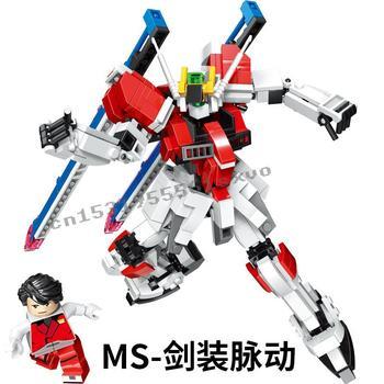 2020 new Gundam RX78-2 SAZABI Buster GOD EXIA Emporium Gundam Giant Warrior Building Blocks Bricks child Toys Christmas gifts 2