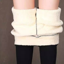 Damskie zimowe ciepłe legginsy super-gruba wysoka rozciągliwość kaszmir jagnięcy leginsy wysokiej talii spodnie Skinny fit tanie tanio COTTON Pełnej długości CN (pochodzenie) Zima MR01 Stałe Na co dzień Proste Mieszkanie REGULAR Osób w wieku 18-35 lat