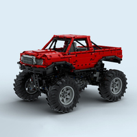 Monsters Truck With Automated Differential Lock Racing Car MOCs Bricks F 150 Fit For LEGOinglys Technic Building Block kids Toys