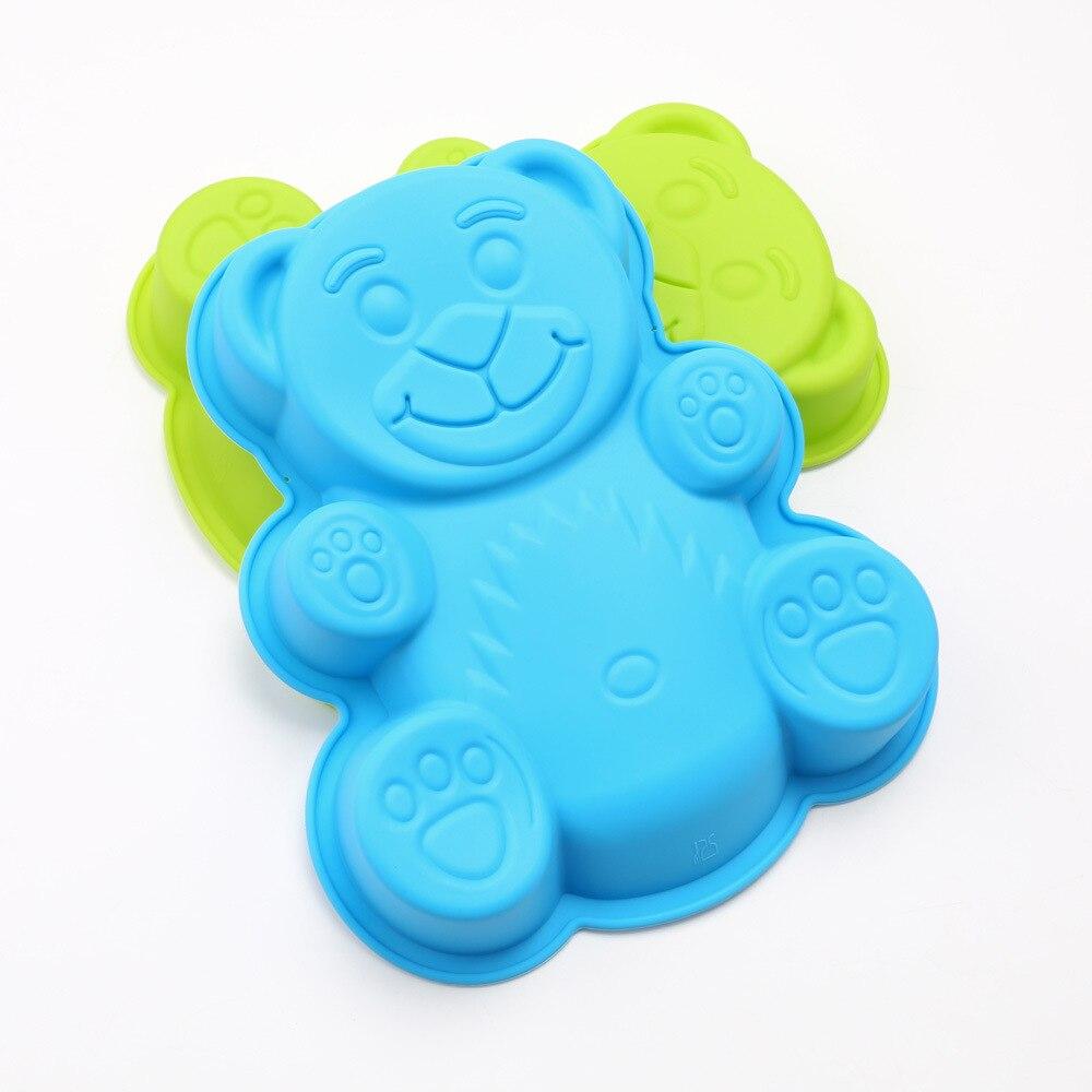 11,5*10 см DlY форма медведя из мультфильма 3D силиконовая форма для торта, жаропрочные инструменты для выпечки, форма для выпечки