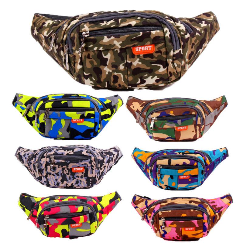 Men Women Camouflage Waist Fanny Pack Belt Money Bag Pouch Travel Sports Purse Camouflage Pocket