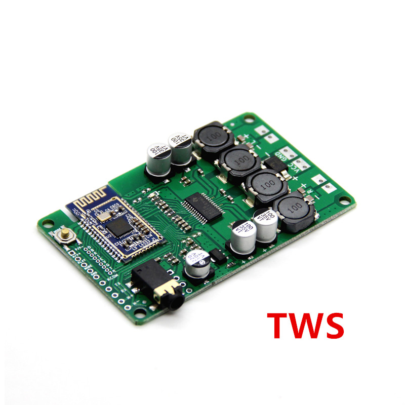 TWS To Box Bluetooth 5.0 Power Amplifier Board 2x15W / 10W Support AUX Audio Input Support Serial Port Change Name