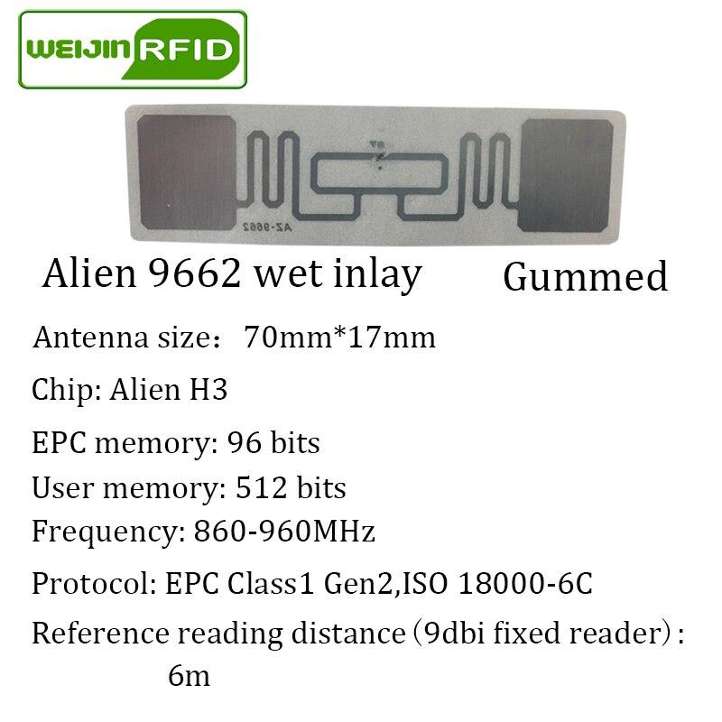 UHF RFID etiketi etiket Alien 9662 EPC6C ıslak kakma 915 mhz868 - Güvenlik ve Koruma - Fotoğraf 6